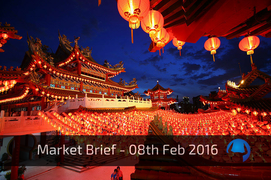 Market Brief – Monday 8th February 2016