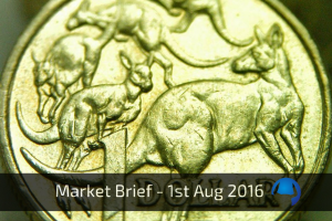 Trade View Market Brief - 1st August 2016