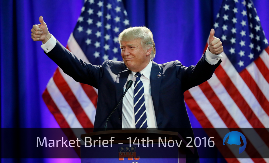 Market Brief – Monday 14th November 2016