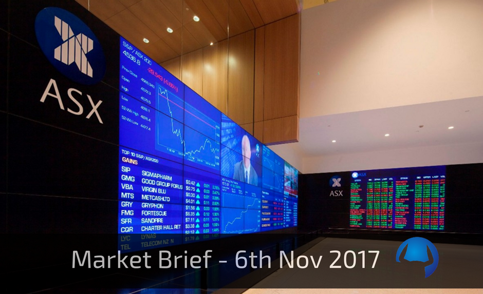 Trade View Market Brief - 6th November 2017