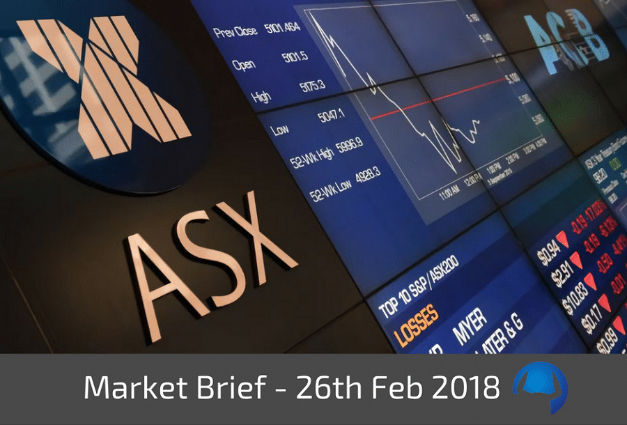 Trade View Market Brief - Monday 26th February 2018
