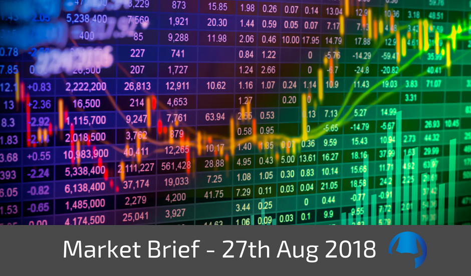 Trade View Investments Weekly Market Brief 27 August 2018