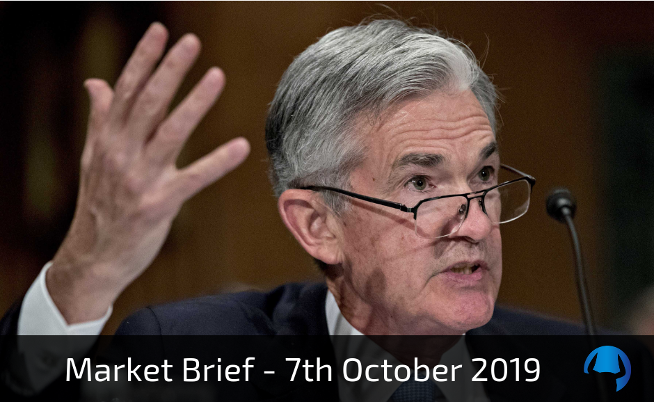Market Brief – Monday 7th October 2019